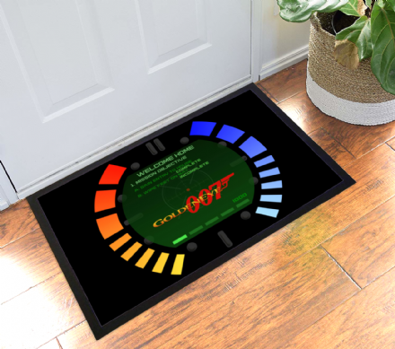 James Bond Goldeneye Pause Screen Watch N64 Design Welcome Mat Gamer Doormat